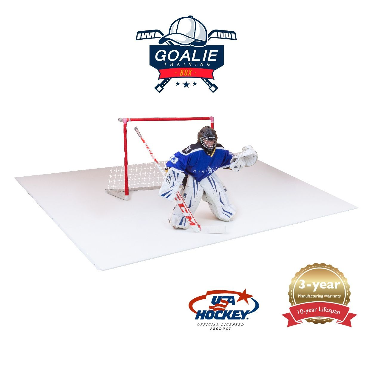 Goalie Training box 9.5 x 12.7 feet