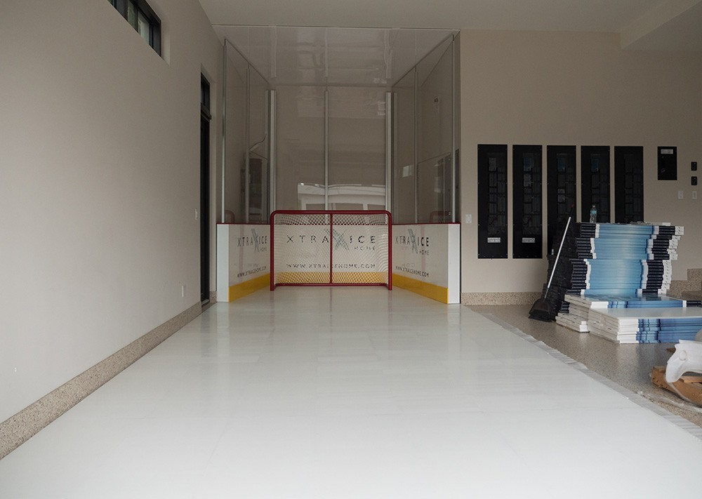 Ekblad Xtraice Home synthetic ice rink at its home